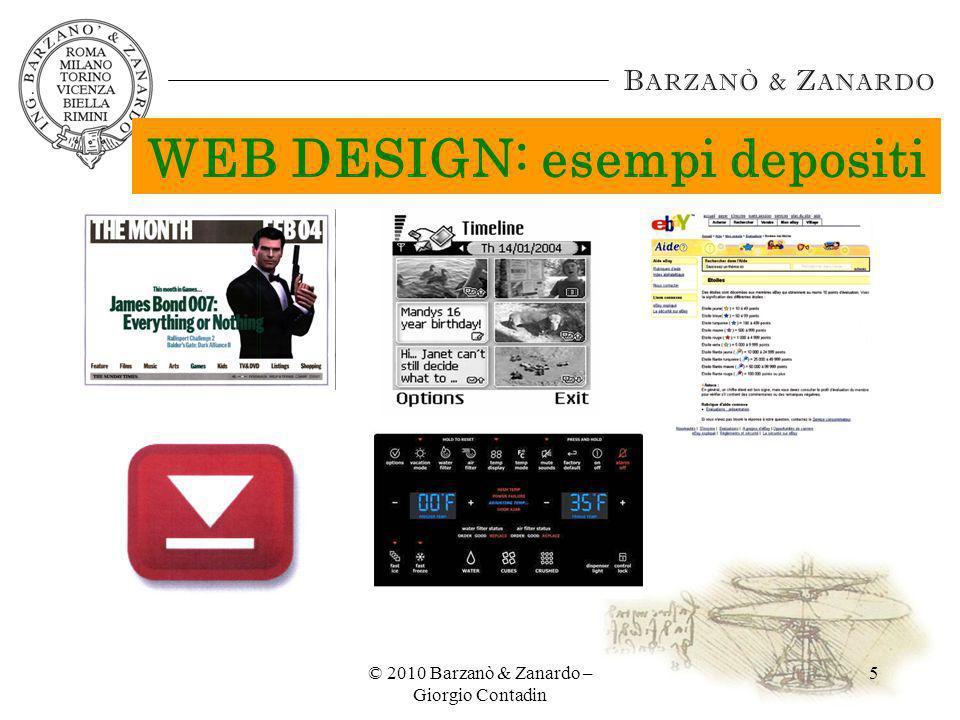 © 2010 Barzanò & Zanardo – Giorgio Contadin 16 REGISTRAZIONE DI MODELLO: PERIODO DI GRAZIA dep.