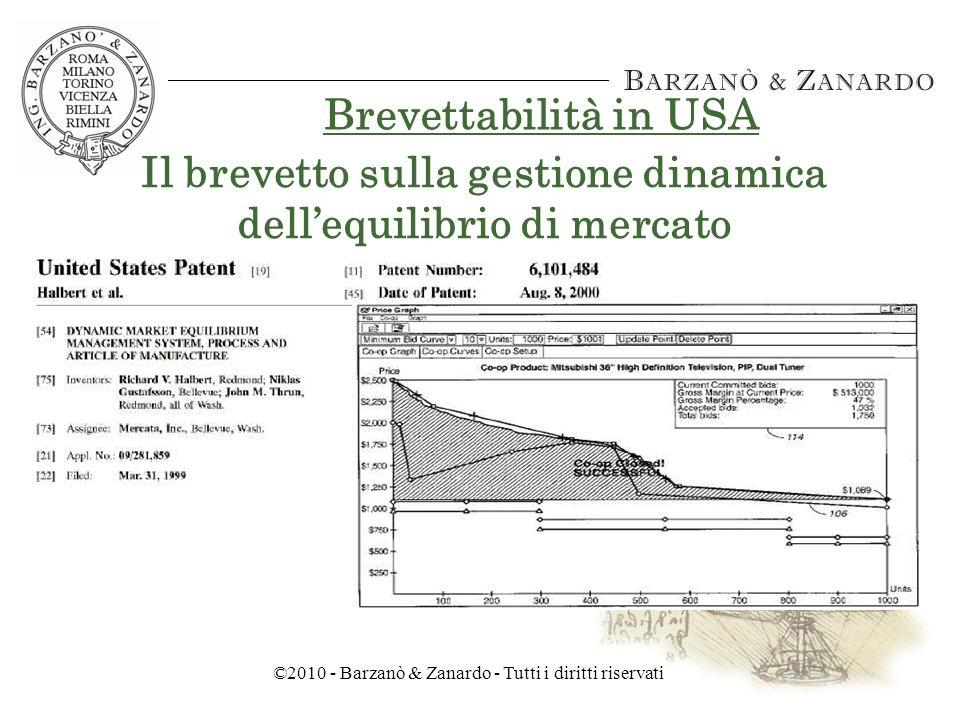 ©2010 - Barzanò & Zanardo - Tutti i diritti riservati Brevettabilità in USA Il brevetto Amazon.com sulla affiliazione della clientela