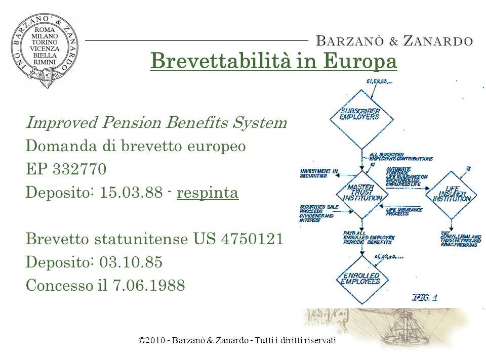 ©2010 - Barzanò & Zanardo - Tutti i diritti riservati Brevettabilità in Giappone LUfficio Brevetti Giapponese sta espandendo i settori tecnologici per i cui prodotti e/o procedimenti possono essere concessi brevetti.