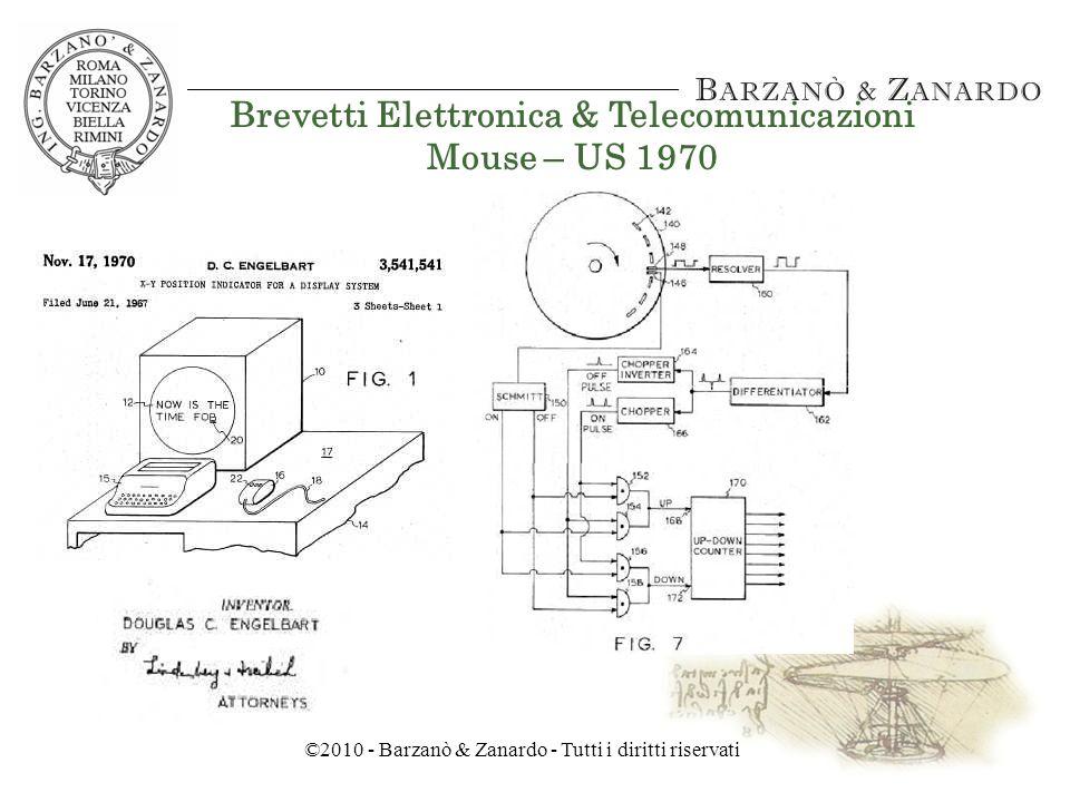 ©2010 - Barzanò & Zanardo - Tutti i diritti riservati Brevetti Elettronica & Telecomunicazioni Circuito Integrato – US 1964