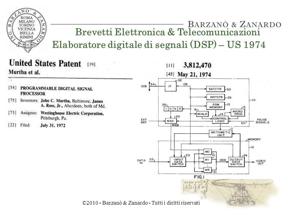©2010 - Barzanò & Zanardo - Tutti i diritti riservati Brevetti Elettronica & Telecomunicazioni Mouse – US 1970