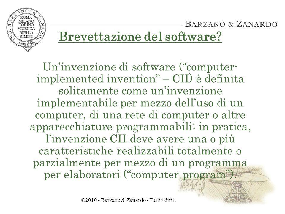 ©2010 - Barzanò & Zanardo - Tutti i diritti riservati Le nuove tecnologie elettroniche 1969 - Nascita del mercato del software (rete ARPANET) IBM, indagata per violazione delle norme antitrust, separa lofferta di hardware e software Oggi il mercato del software prevale rispetto al mercato dellhardware