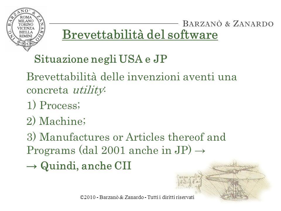 ©2010 - Barzanò & Zanardo - Tutti i diritti riservati Brevettazione del software.