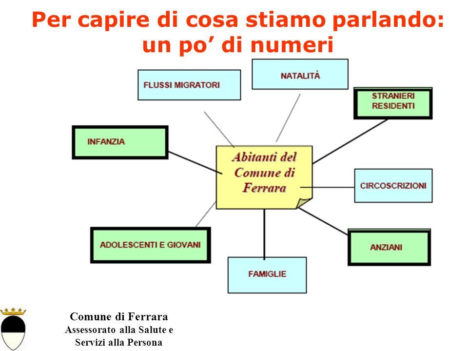 Comune di Ferrara Assessorato alla Salute e Servizi alla Persona Per capire di cosa stiamo parlando: un po di numeri