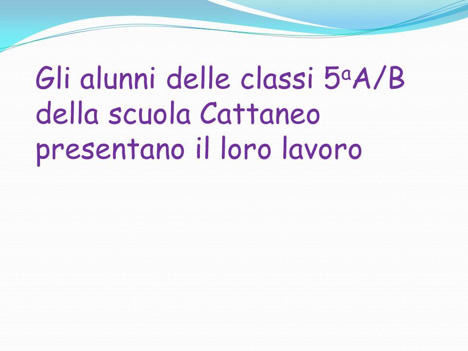 Gli alunni delle classi 5 a A/B della scuola Cattaneo presentano il loro lavoro