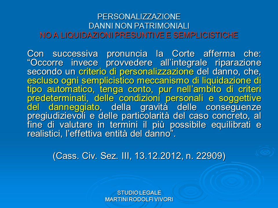STUDIO LEGALE MARTINI RODOLFI VIVORI NON SOLO TRAVAGLINO Cass.