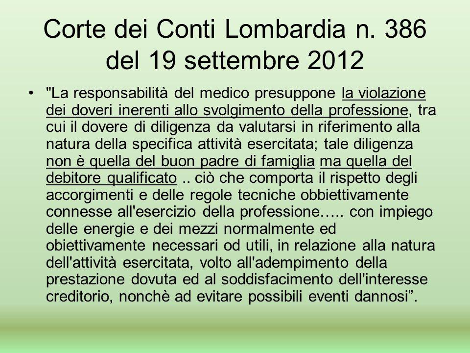 Corte dei Conti Lombardia n.