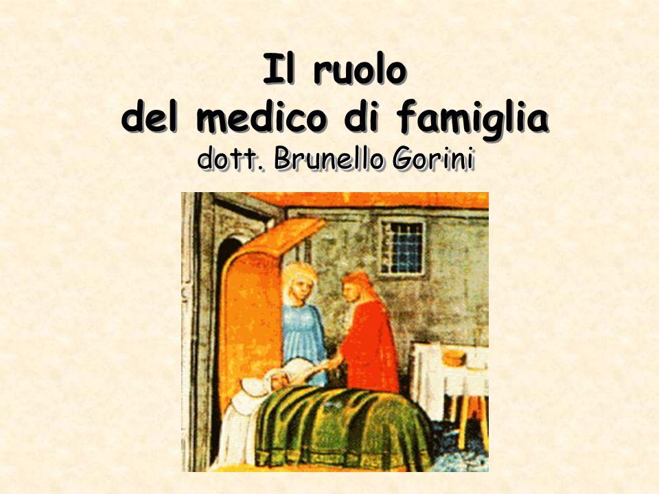 dott. Brunello Gorini Il ruolo del medico di famiglia dott. Brunello Gorini