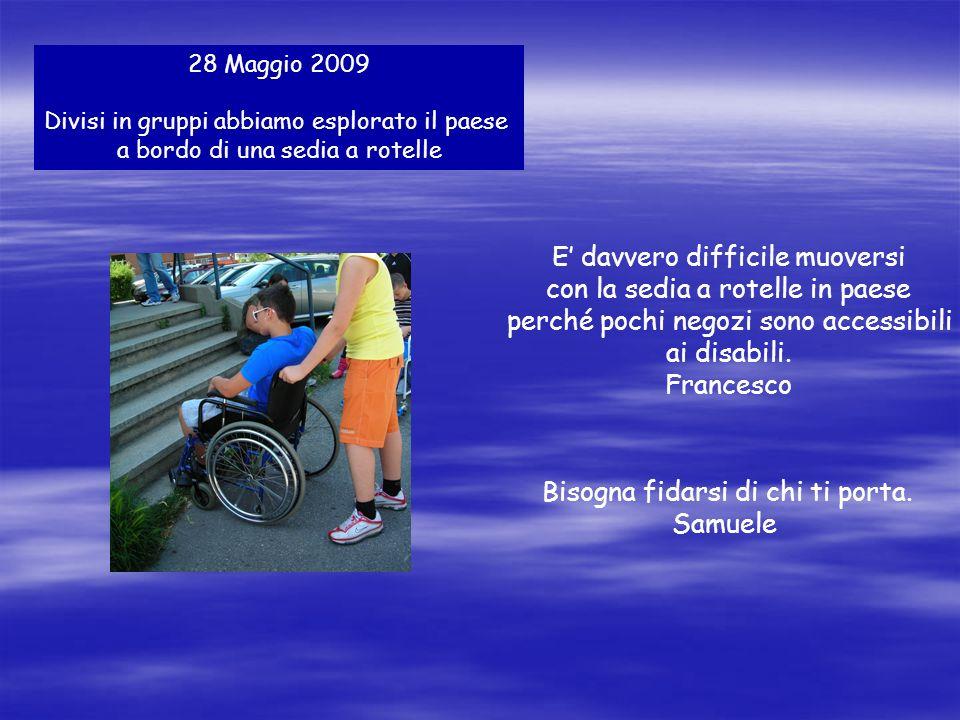 4 Giugno 2009 Abbiamo incontrato Silvia e Ciccio, due atleti.