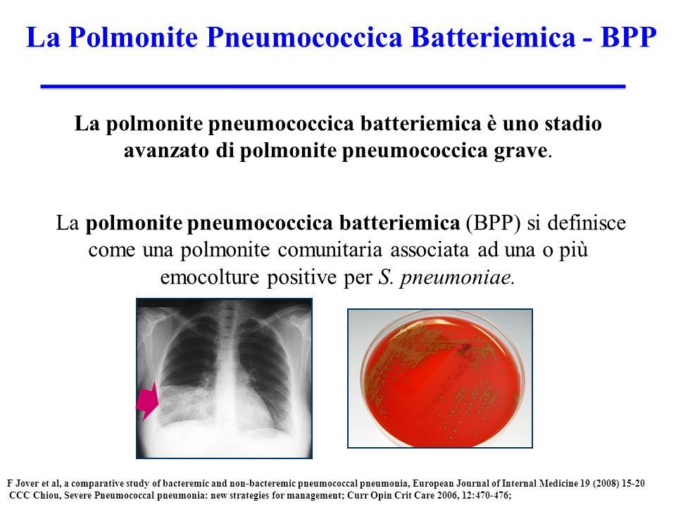 La polmonite pneumococcica batteriemica è uno stadio avanzato di polmonite pneumococcica grave.