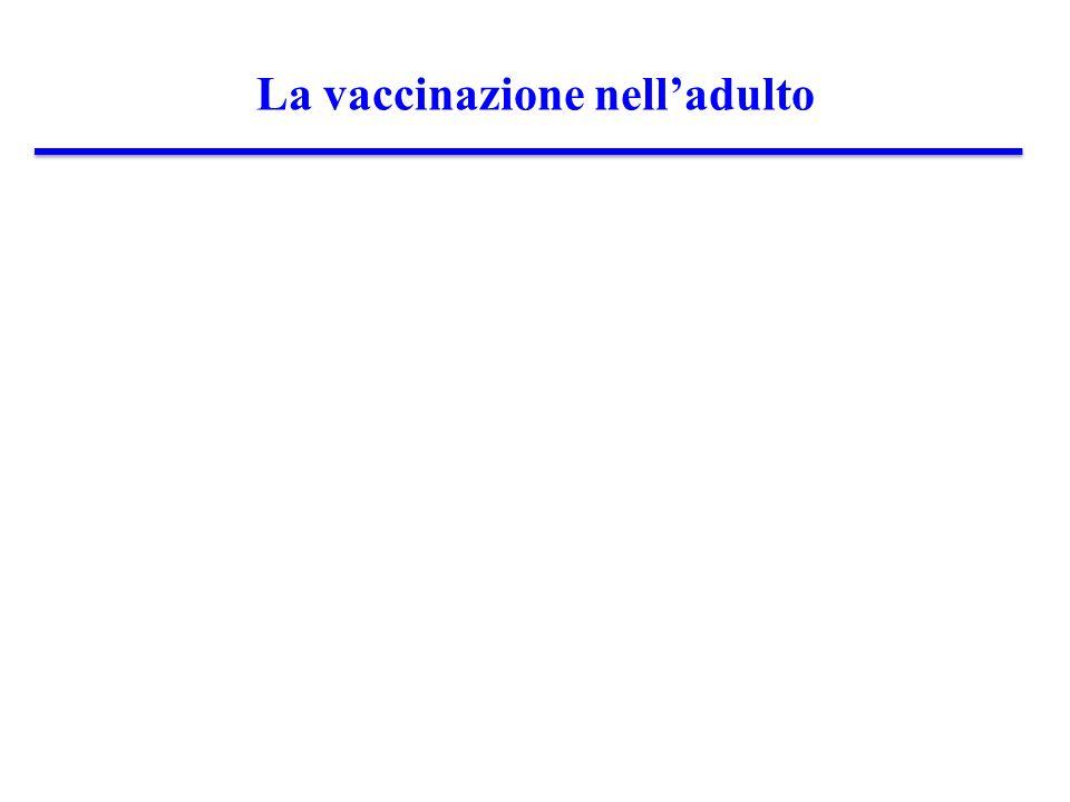 La vaccinazione nelladulto