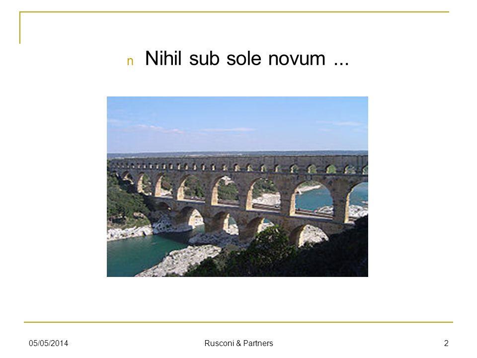 Nihil sub sole novum... 205/05/2014 Rusconi & Partners
