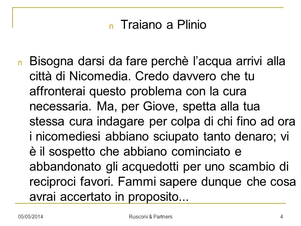 La fase della progettazione 505/05/2014 Rusconi & Partners