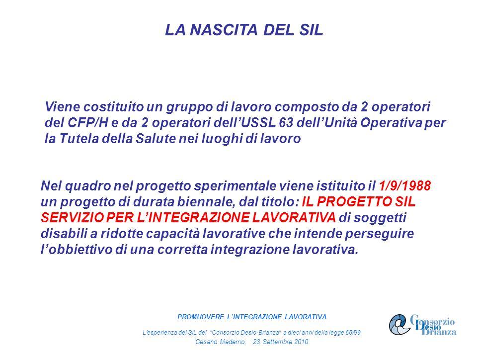 Viene costituito un gruppo di lavoro composto da 2 operatori del CFP/H e da 2 operatori dellUSSL 63 dellUnità Operativa per la Tutela della Salute nei