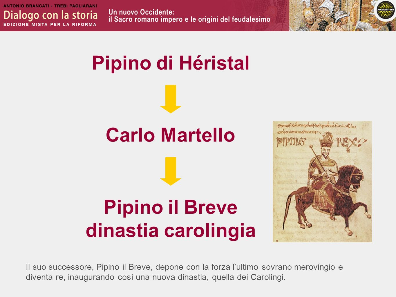 Il suo successore, Pipino il Breve, depone con la forza lultimo sovrano merovingio e diventa re, inaugurando così una nuova dinastia, quella dei Carol