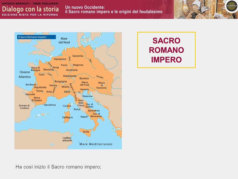 Ha così inizio il Sacro romano impero; SACRO ROMANO IMPERO