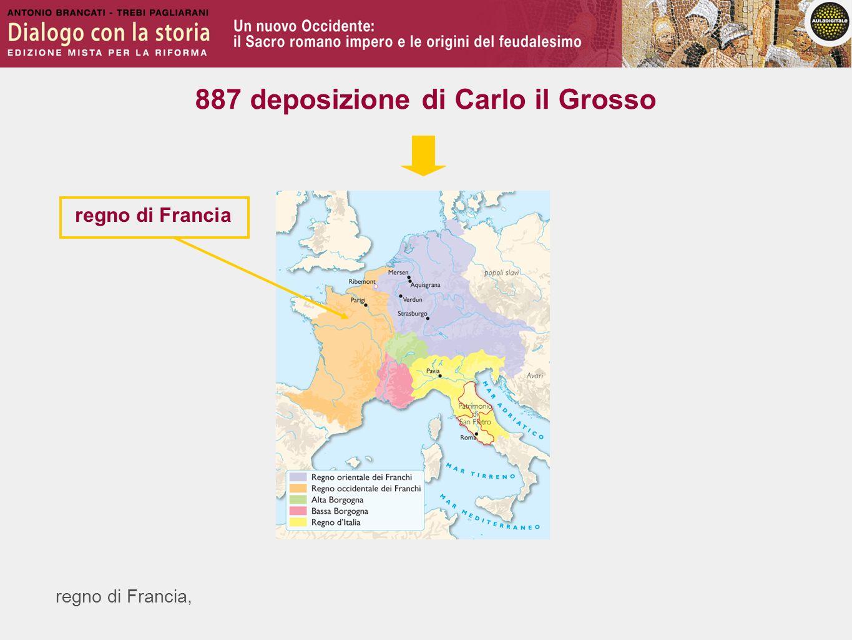 regno di Francia, regno di Francia 887 deposizione di Carlo il Grosso