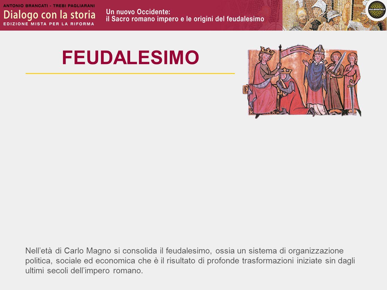 Nelletà di Carlo Magno si consolida il feudalesimo, ossia un sistema di organizzazione politica, sociale ed economica che è il risultato di profonde t