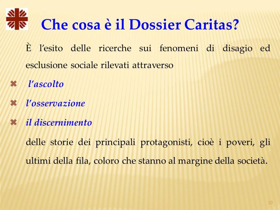 10 Che cosa è il Dossier Caritas.