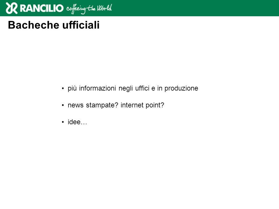 Bacheche ufficiali più informazioni negli uffici e in produzione news stampate.