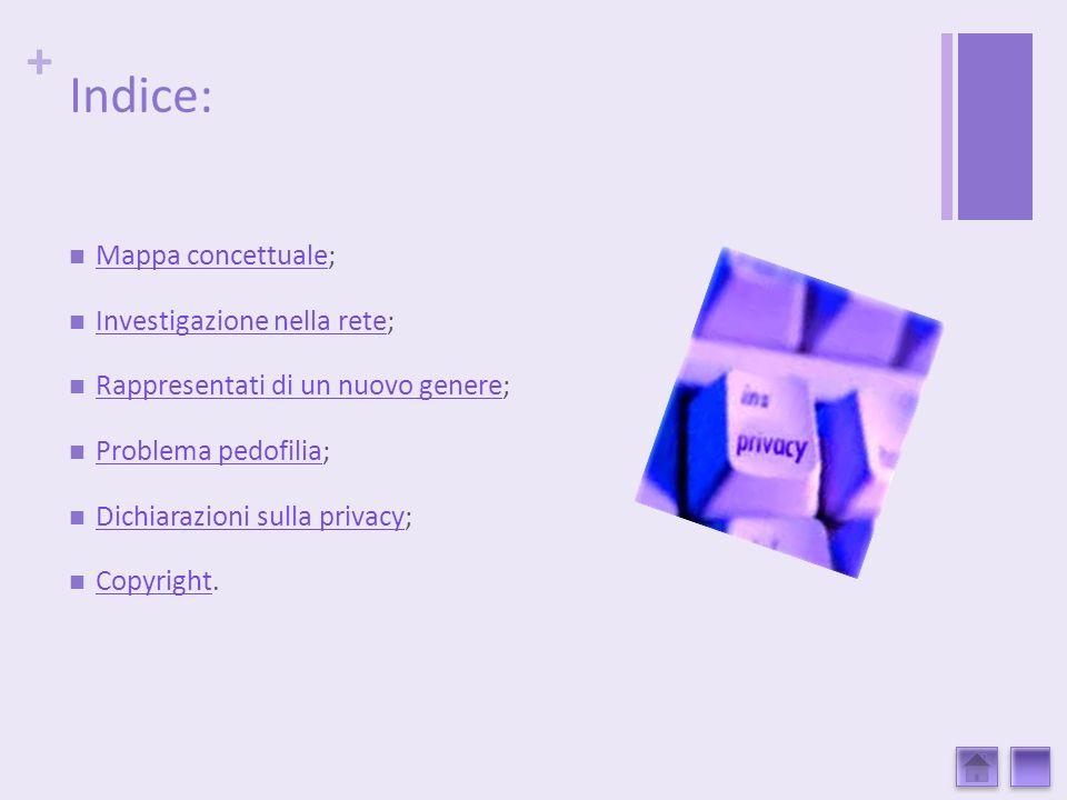 + Indice: Mappa concettuale; Mappa concettuale Investigazione nella rete; Investigazione nella rete Rappresentati di un nuovo genere; Rappresentati di