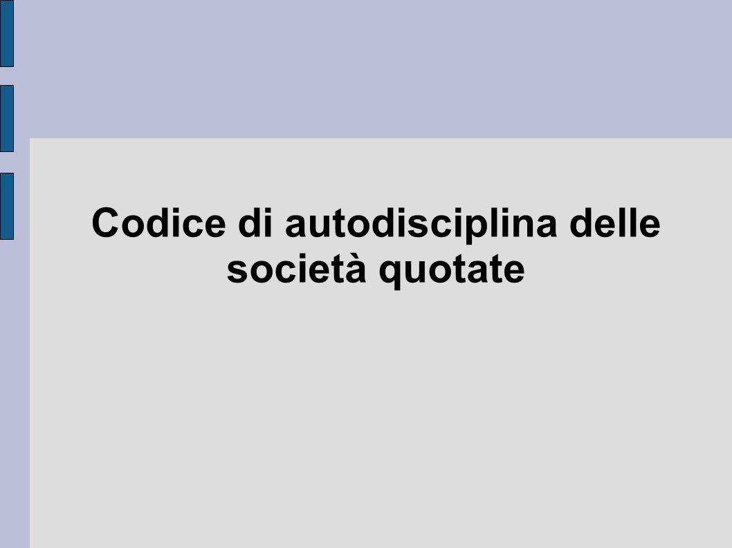 Codice di autodisciplina delle società quotate