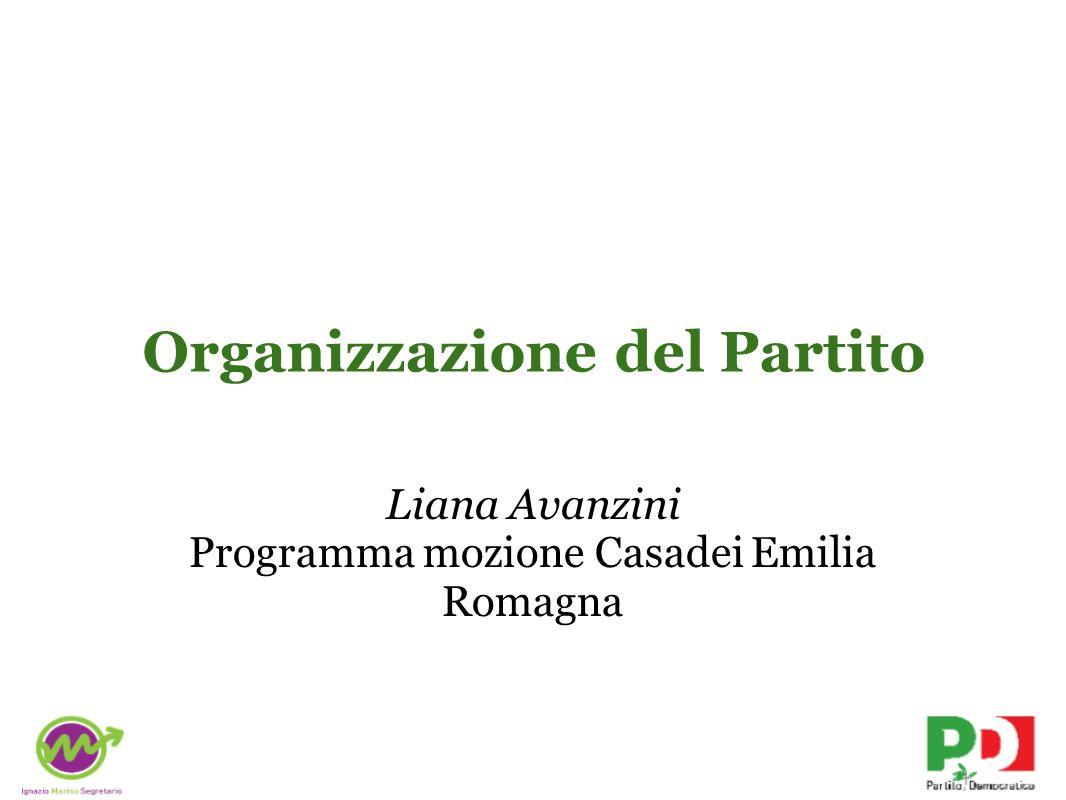 Organizzazione del Partito Liana Avanzini Programma mozione Casadei Emilia Romagna