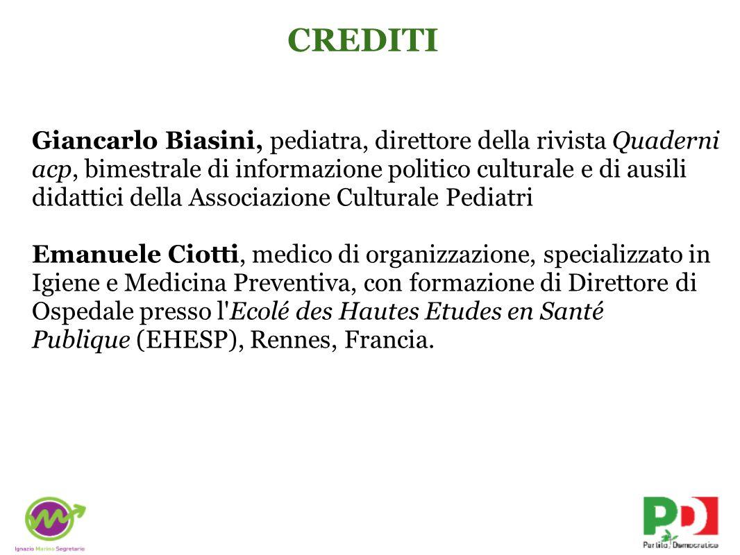 Giancarlo Biasini, pediatra, direttore della rivista Quaderni acp, bimestrale di informazione politico culturale e di ausili didattici della Associazi