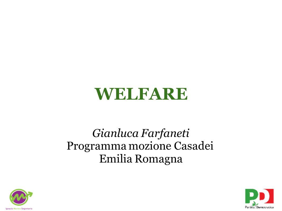 WELFARE Gianluca Farfaneti Programma mozione Casadei Emilia Romagna