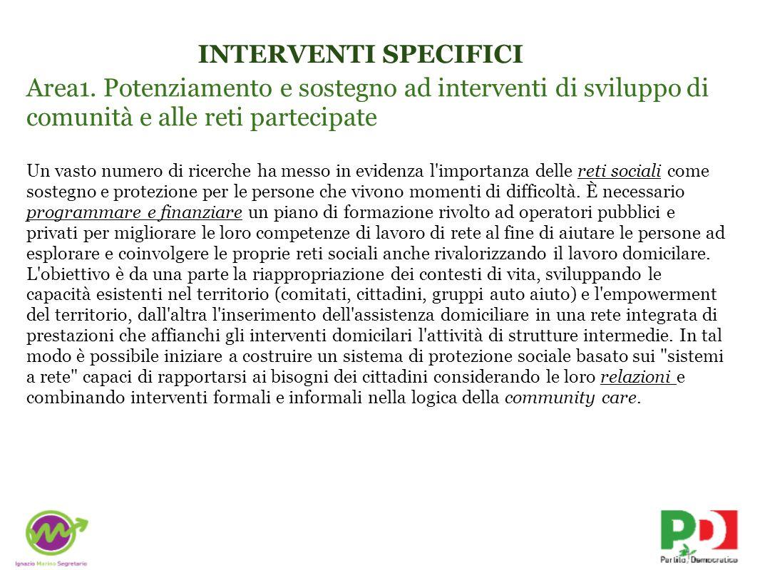 INTERVENTI SPECIFICI Area1.