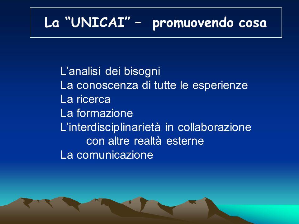 La UNICAI – in che modo utilizzando esperienze e risorse, dotandosi di una struttura ad alto livello e sviluppando la ricerca in tutti i settori attin