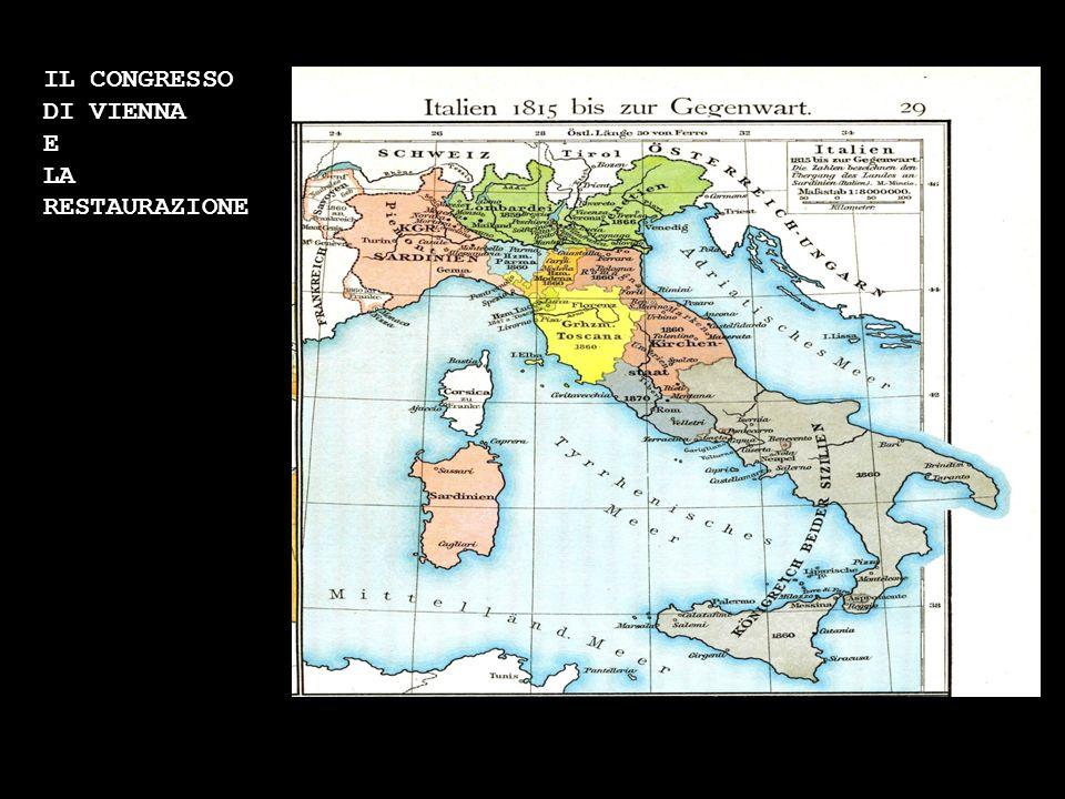 I moti del 1820 -21 I moti del 1830 Le rivoluzioni del 1848 e la I guerra di indipendenza La II guerra di indipendenza e lunità dItalia