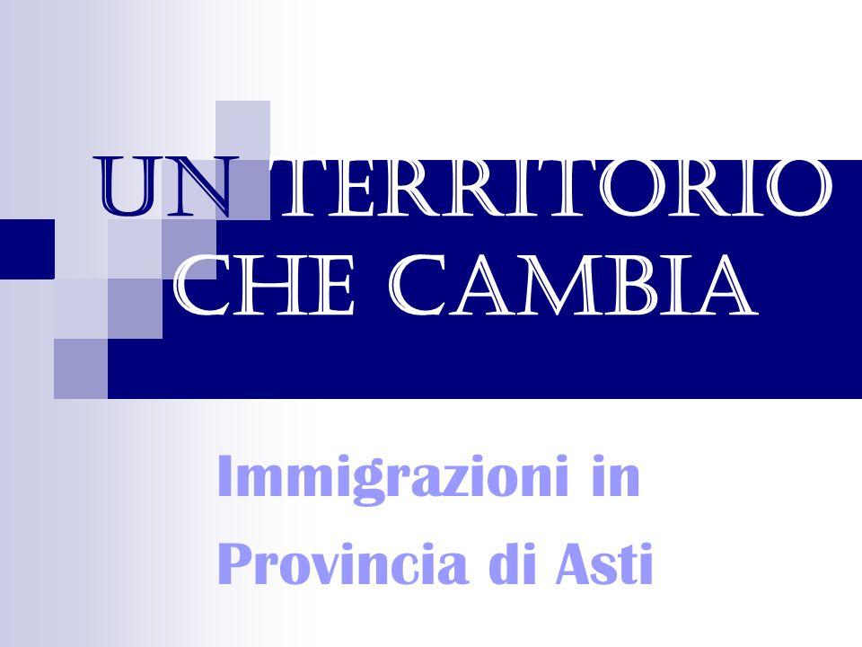 Un territorio che cambia Immigrazioni in Provincia di Asti