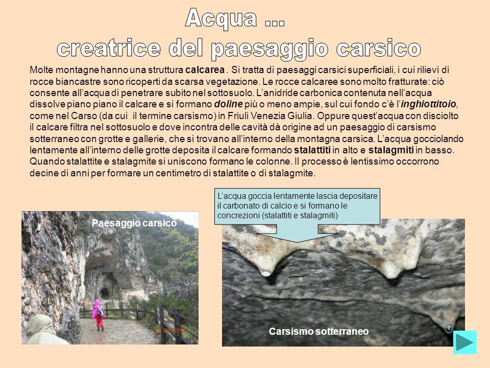 Molte montagne hanno una struttura calcarea. Si tratta di paesaggi carsici superficiali, i cui rilievi di rocce biancastre sono ricoperti da scarsa ve
