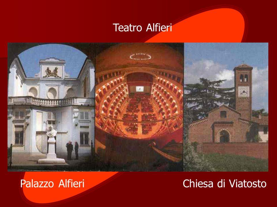 Palazzo Alfieri Chiesa di Viatosto Teatro Alfieri