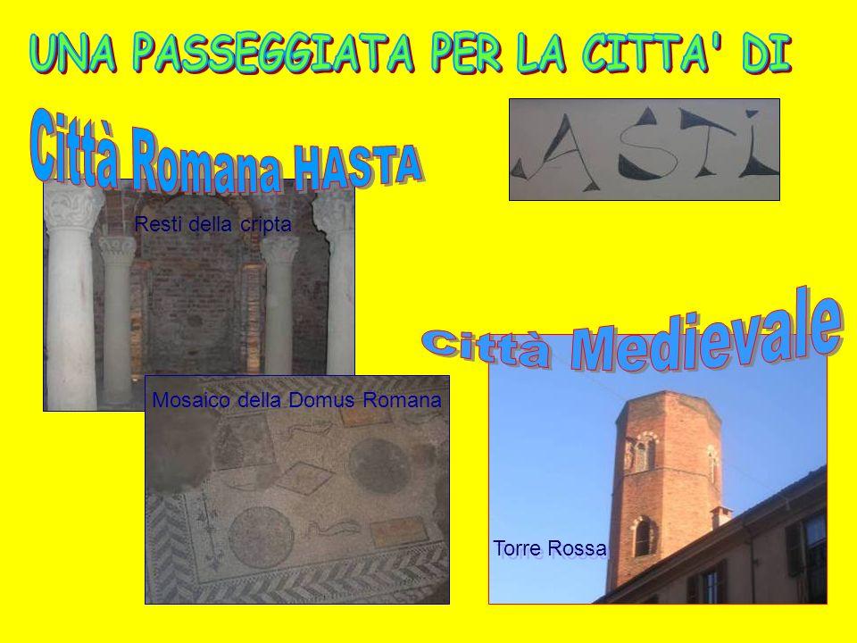 Resti della cripta Torre Rossa Mosaico della Domus Romana