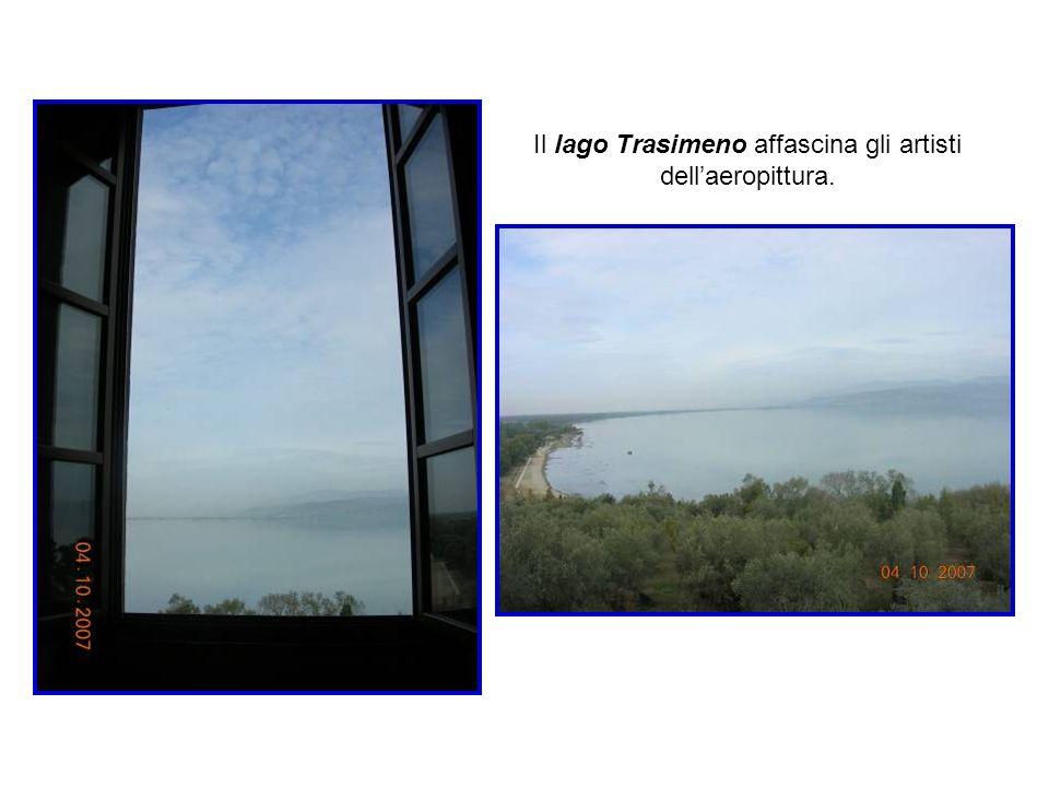 Il lago, riprodotto uninfinità di volte da Dottori nei suoi dipinti, è il fulcro dei paesaggi da cui si diparte una prospettiva a spirale Aeropittura di G.