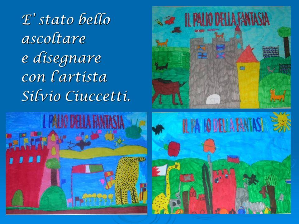 E stato bello ascoltare e disegnare con lartista Silvio Ciuccetti.