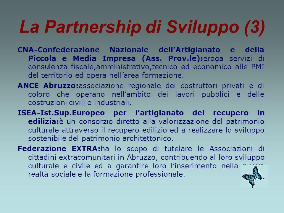La Partnership di Sviluppo (3) CNA-Confederazione Nazionale dellArtigianato e della Piccola e Media Impresa (Ass.