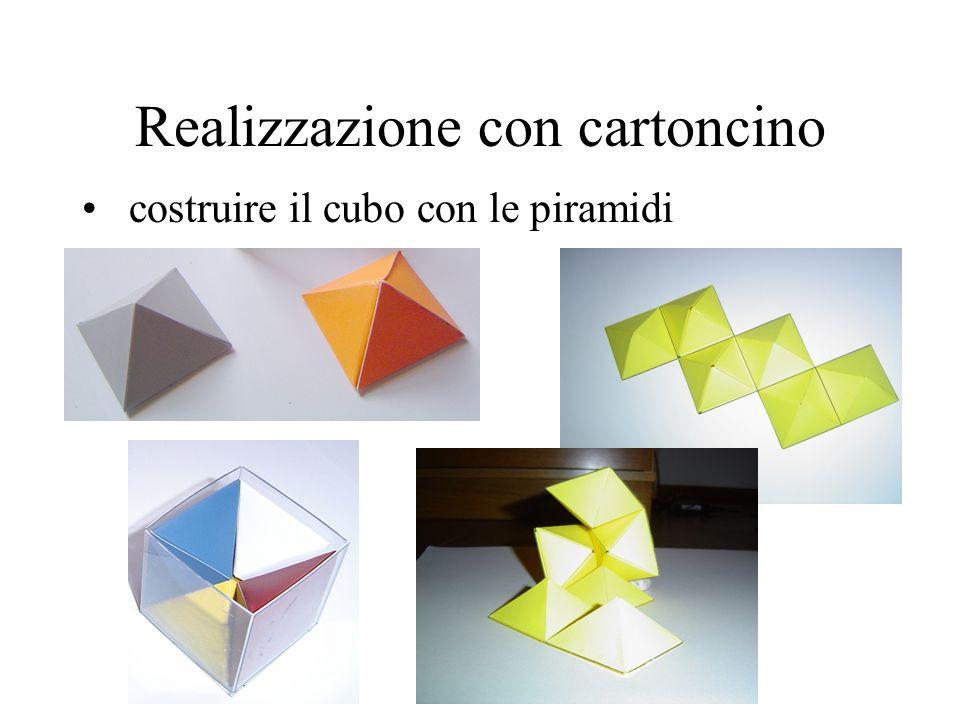 Realizzazione con cartoncino costruire il cubo con le piramidi