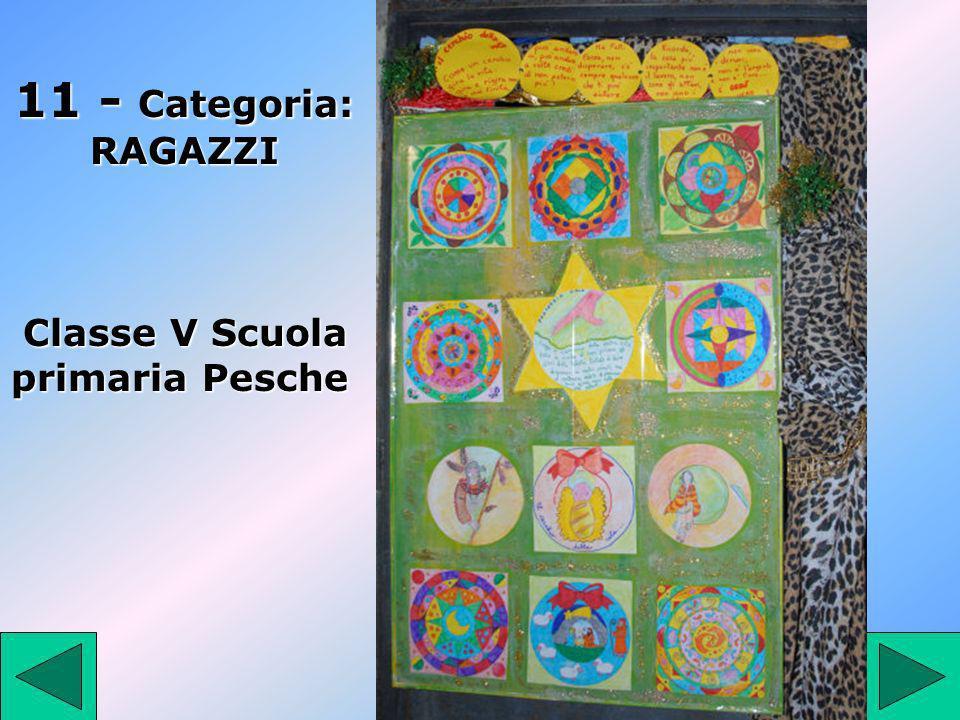 11 11 - Categoria: RAGAZZI Classe V Scuola primaria Pesche