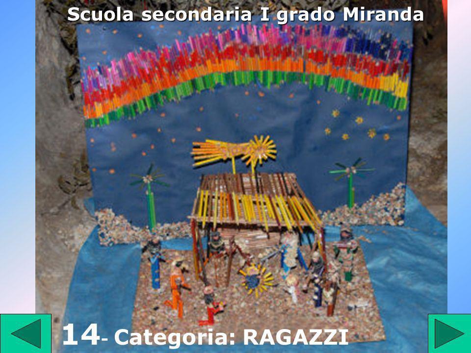 1 4 14 - Categoria: RAGAZZI Scuola secondaria I grado Miranda