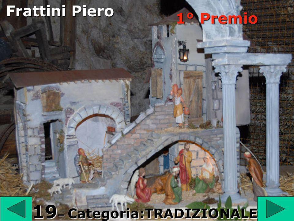 1 9 19 – Categoria:TRADIZIONALE Frattini Piero 1° Premio