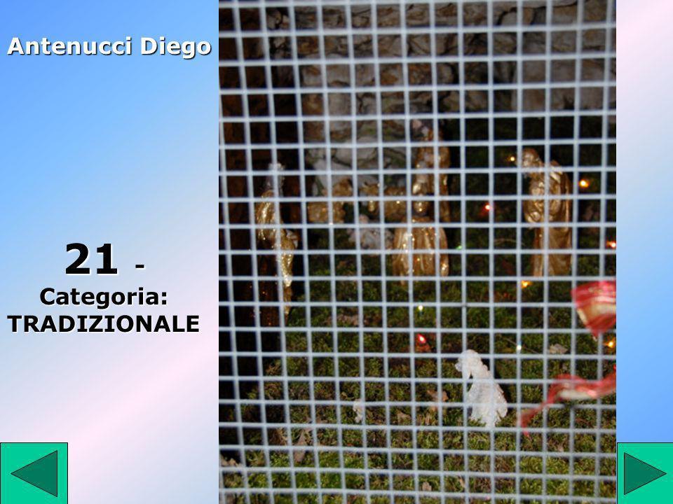 21 21 - Categoria: TRADIZIONALE Antenucci Diego