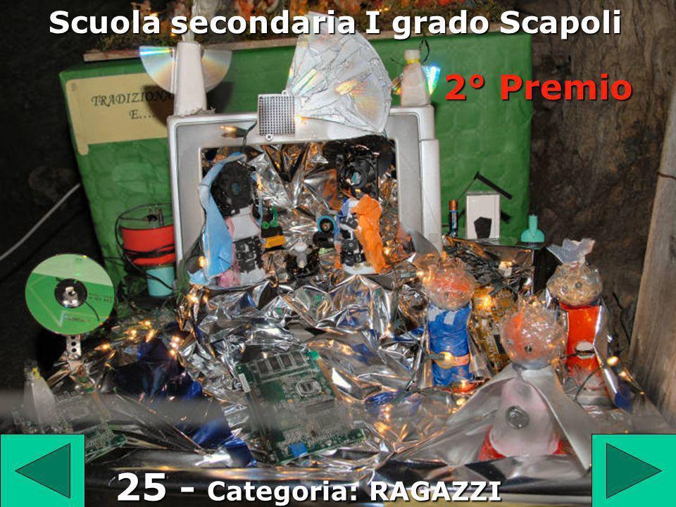 25 25 - Categoria: RAGAZZI Scuola secondaria I grado Scapoli 2° Premio