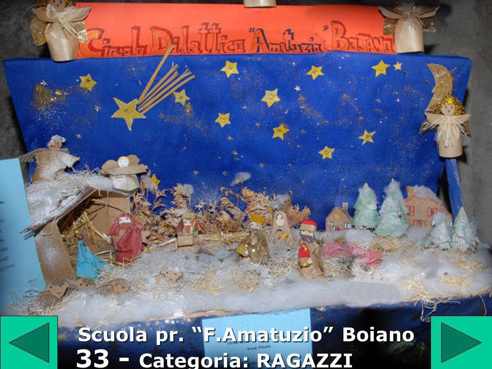 33 33 - Categoria: RAGAZZI Scuola pr. F.Amatuzio Boiano