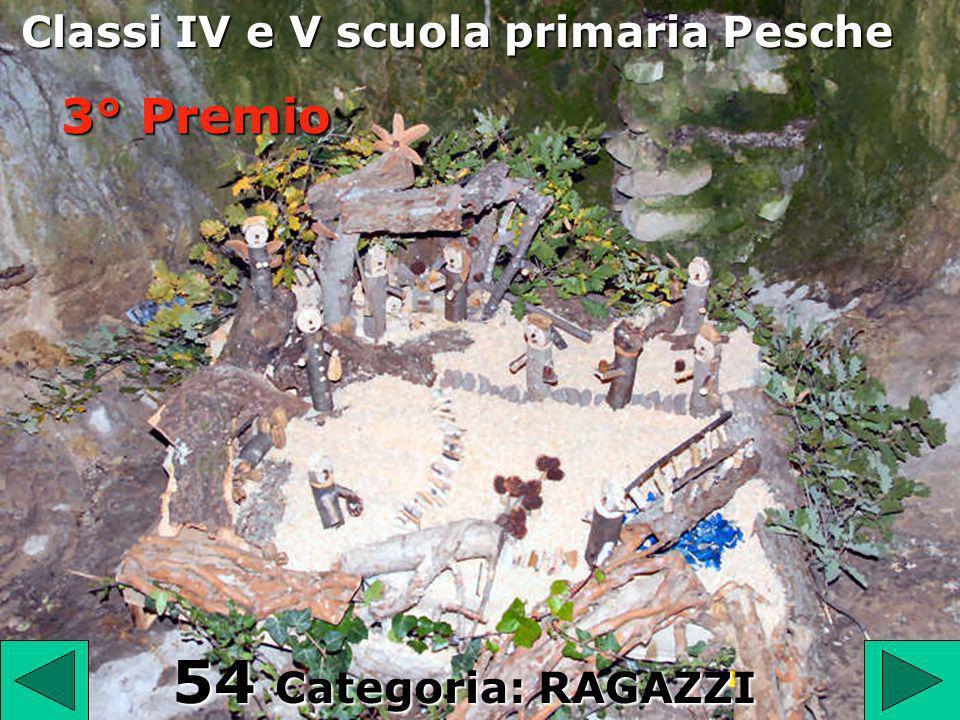 54 54 Categoria: RAGAZZI Classi IV e V scuola primaria Pesche 3° Premio
