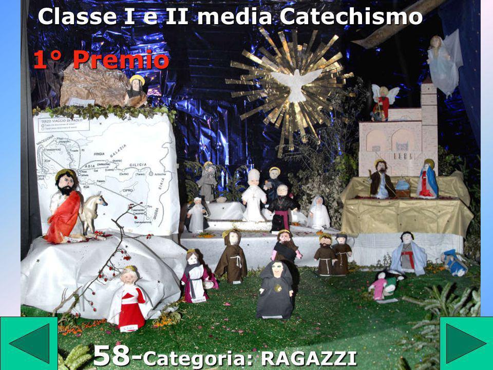 58 Classe I e II media Catechismo 58 - Categoria: RAGAZZI 1° Premio