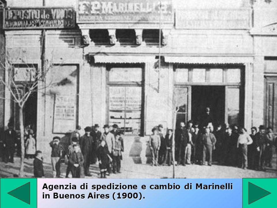 Agenzia di spedizione e cambio di Marinelli in Buenos Aires (1900).