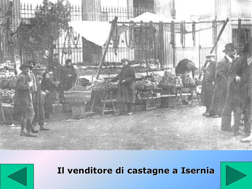 Il venditore di castagne a Isernia